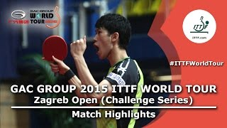 Zagreb Open 2015 Highlights: TAN Ruiwu vs YOSHIMURA Maharu (FINAL)