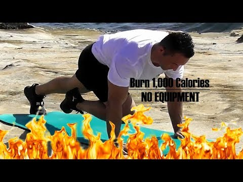 NO EQUIPMENT 1000 CALORIES HIIT WORKOUT #FatBurning # ...