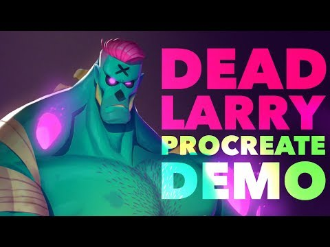 Ep. 207| Dead Larry - Procreate 5 Demo + Character Design Tips