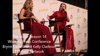 The Voice Season 14 Winners Press Conference Kelly Clarkson and Brynn Cartelli