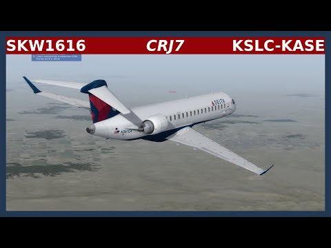 SKW1616: CRJ-700 - KSLC-KASE [P3D]