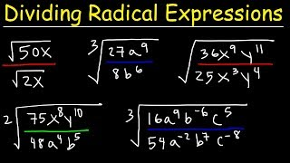 Dividing Radical Expressions Wİth Variables and Exponents