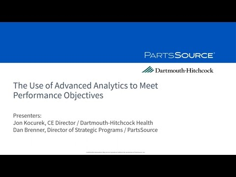 The Use of Advanced Analytics to Meet Performance Objectives