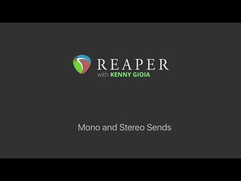 Mono and Stereo Sends in REAPER