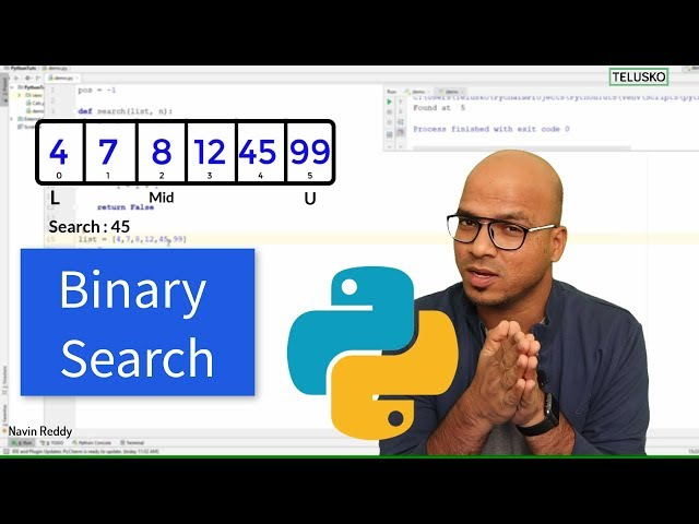 #69 Python Tutorial for Beginners | Binary Search Using Python