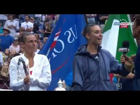 Ceremonia Final De  Roberta Vinci VS Flavia Pennetta    US OPEN 2015