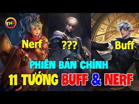 Liên quân mobile 11 tướng buff và Nerf mùa 16 [Chính Thức] bổ xung lần 1 Eland'orr yếu là buff TNG