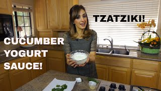 Dip So Good You Can Bathe In It!  Arabic/greek Cucumber Yogurt Sauce