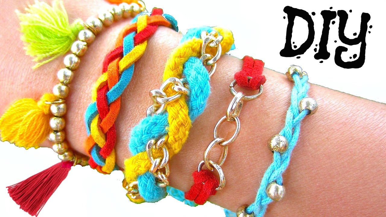Diy Boho Summer Bracelets  How To Make Friendship Bracelets