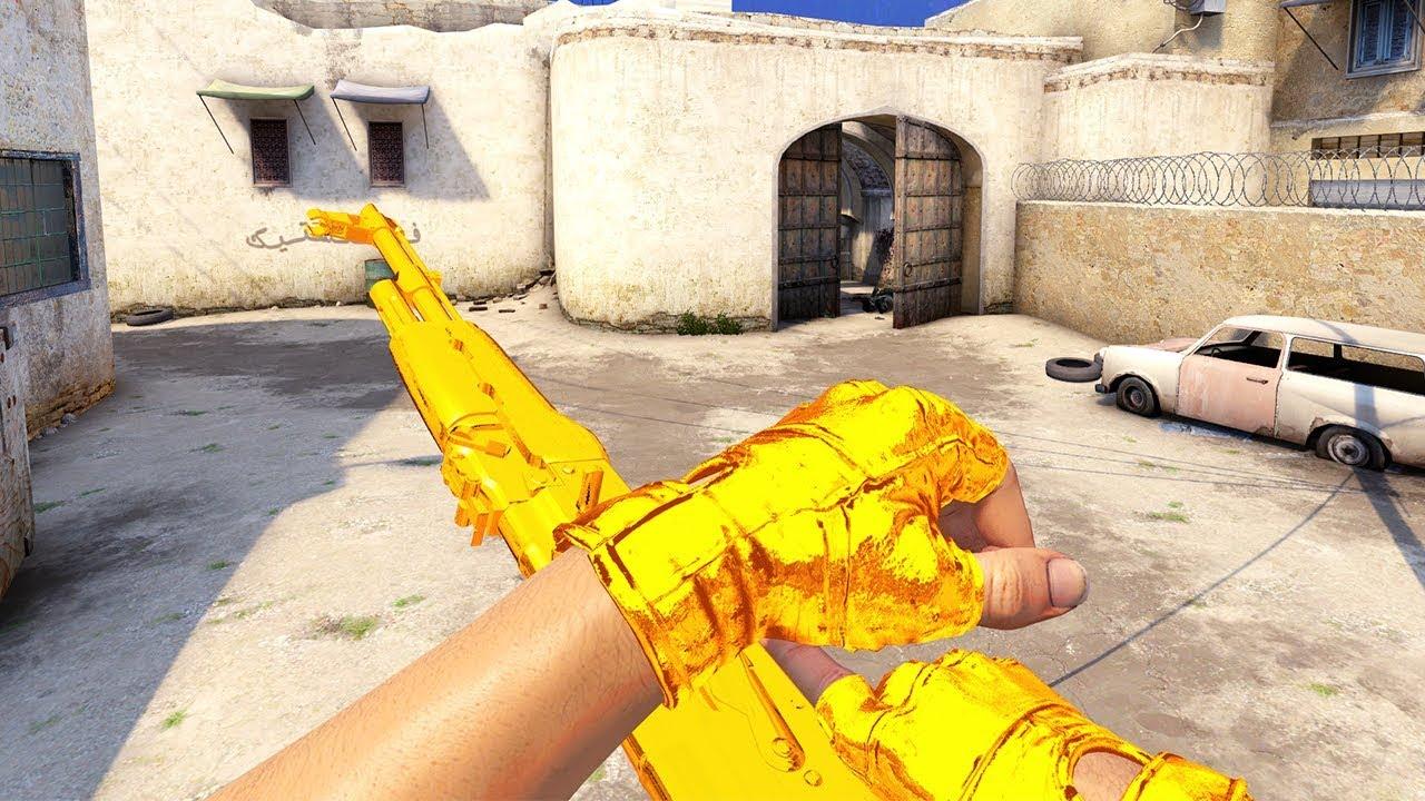 Bhop with Gold Guns (CS:GO Frag Video)