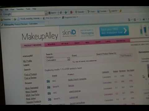 Searching Reviews on MakeupAlley
