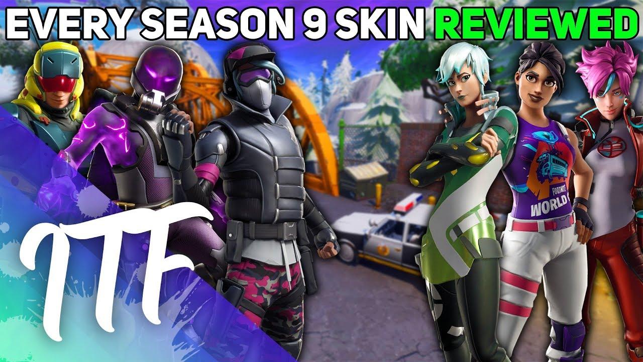 Every Season 9 Skin REVIEWED! (Fortnite Battle Royale)