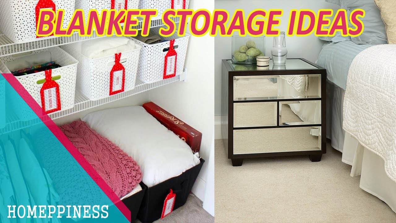 MUST WATCH 40 Cool Blanket Storage Ideas for Your Bedroom Or