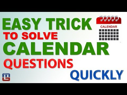 Easy Trick To Solve Calendar Questions Quickly | Reasoning | तैयारी SSC CHSL & CGL 2018 की