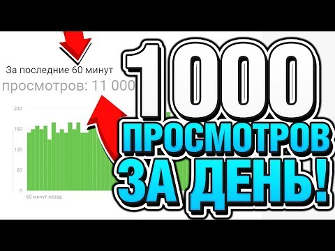 Видео: КАК НАБРАТЬ 1000 ПРОСМОТРОВ ЗА 1 ДЕНЬ В ЮТУБЕ - КАК УВЕЛИЧИТЬ ПРОСМОТРЫ ВИДЕО НА YOUTUBE