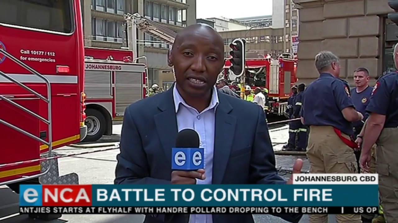 Update: Battle to control JHB building blaze