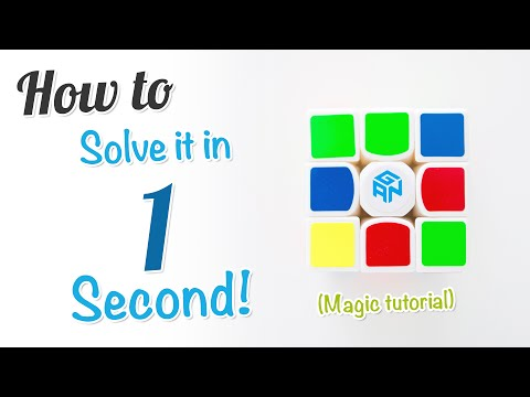 How to Solve a Rubik's Cube in 1 Second! (Magic Tutorial)