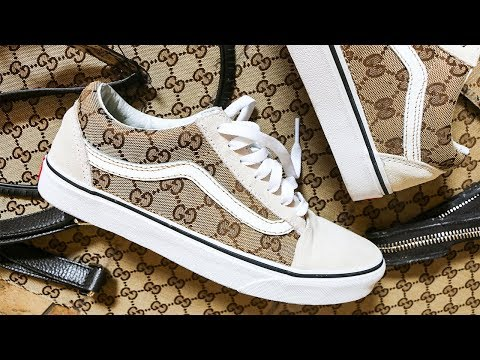 GUCCI Vans CUSTOM / Made From AUTHENTIC Bag!! , YouTube