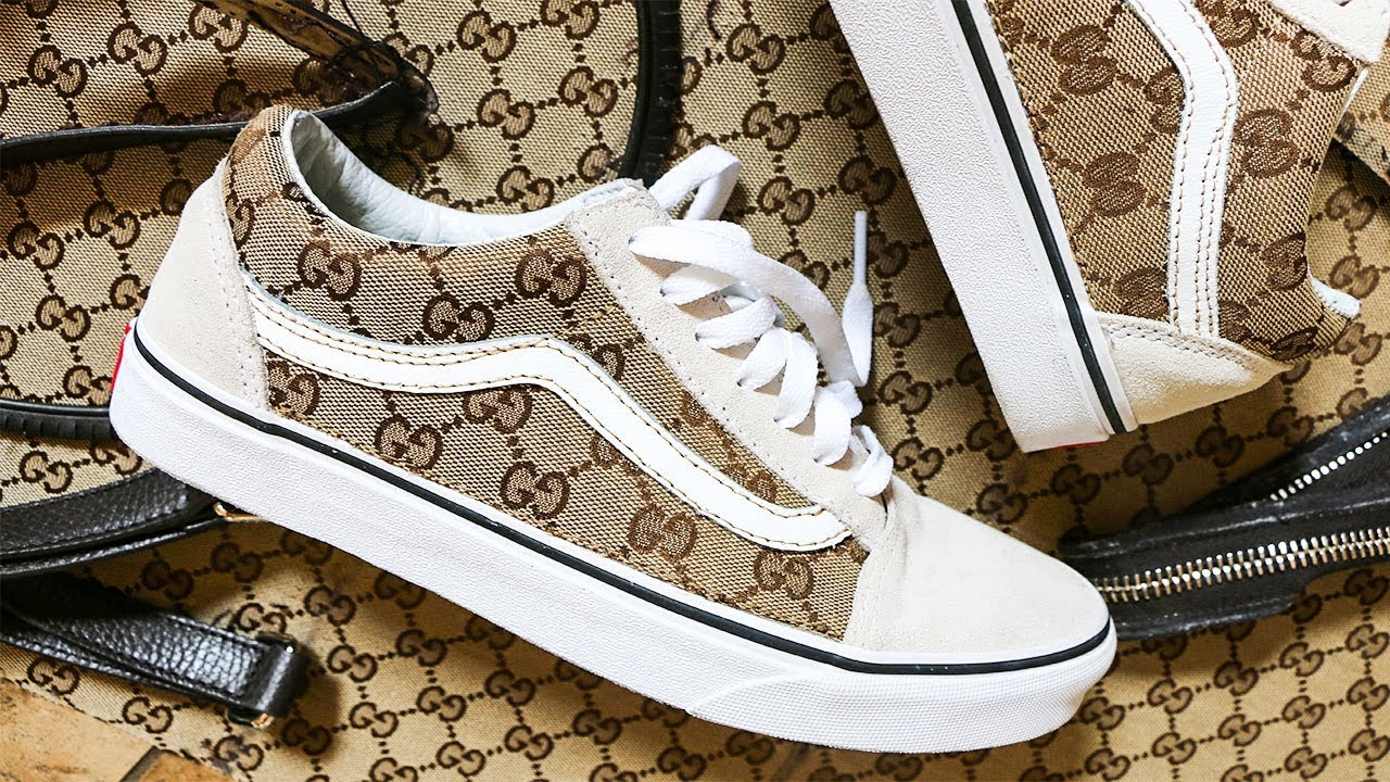 GUCCI Vans CUSTOM   Made From AUTHENTIC Bag!! - YouTube 2ebb45411