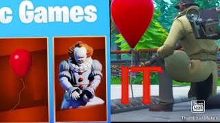 NEW:Fortnite Battle Royal  IT Pennywise In Pleasant Park !