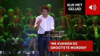 Jesse Klaver speecht tijdens meet-up