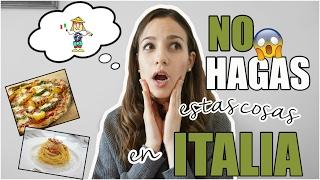 COSAS QUE NO DEBES HACER EN ITALIA EN UN RESTAURANTE SI NO QUIERES PARECER ( MÁS) GUIRI