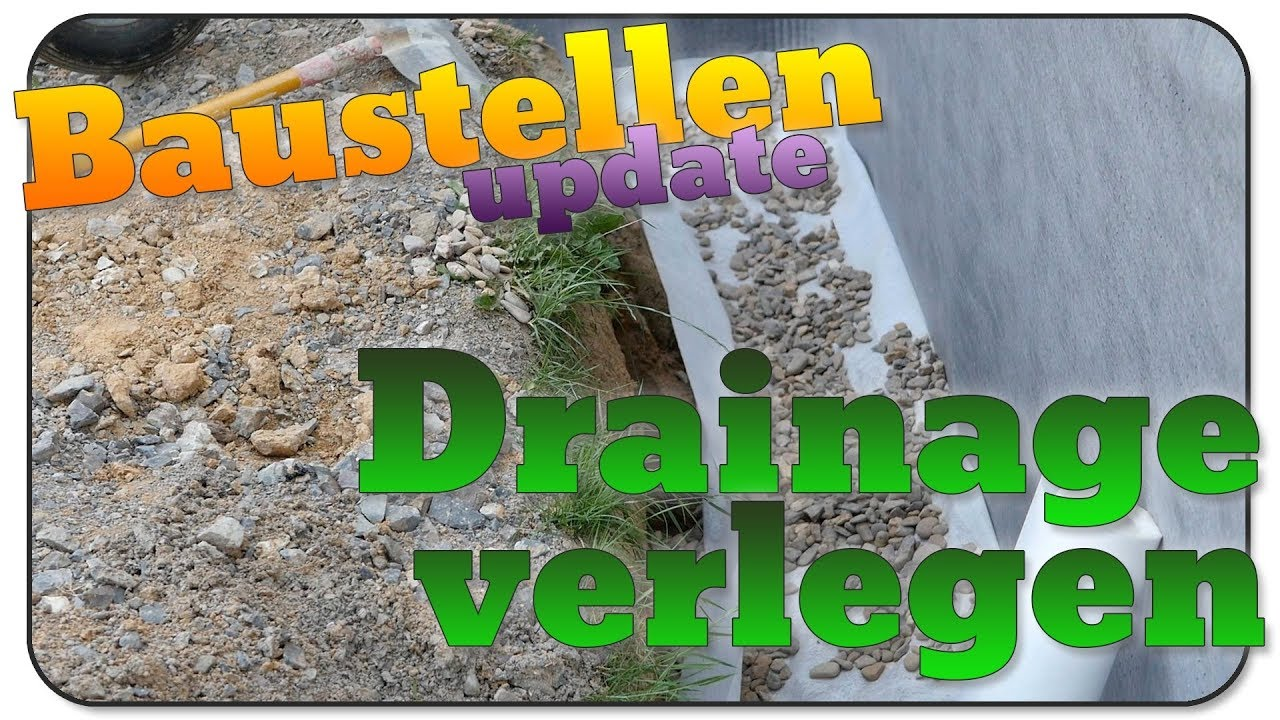 Super Baustellen update 24: Drainage verlegen - YouTube ZR68
