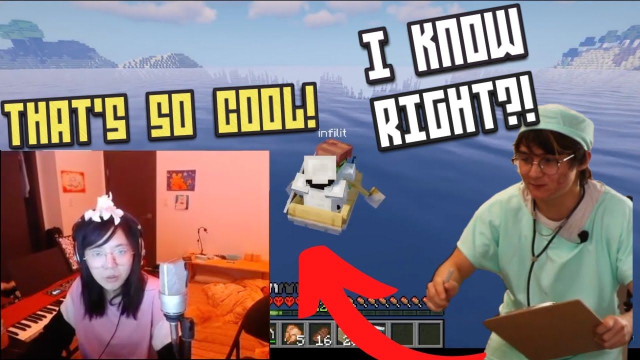Michael Shows Lily SOMETHING REALLY COOL IN MINECRAFT! | Reechu Minecraft Highlights #2