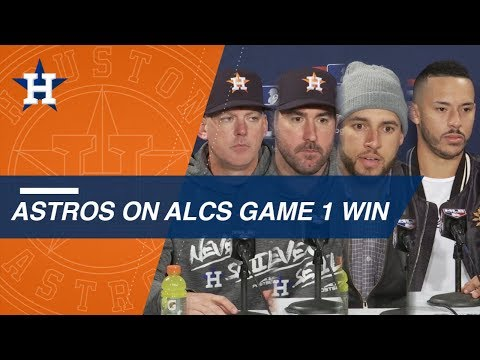 Astros on team\'s ALCS Game 1 win over Red Sox