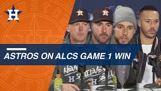 Astros on team's ALCS Game 1 win over Red Sox
