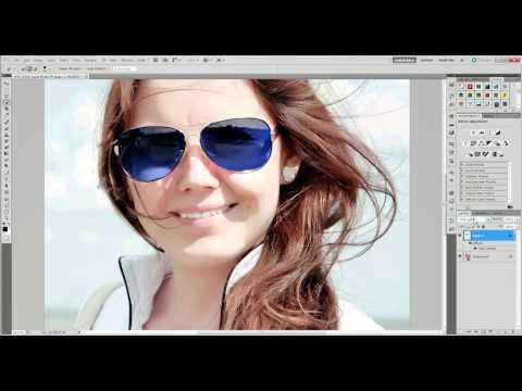 Замена цвета линз в Photoshop