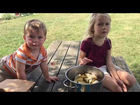 Kids Help Make Peerless Pear Jam!