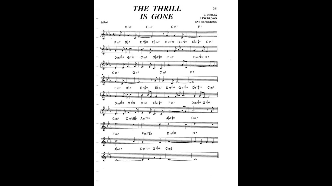 The Thrill Is Gone Chord Youtube