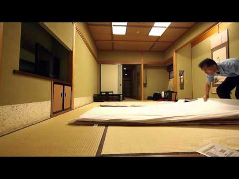 making up a futon bed at japanese traditional ryokan youtube