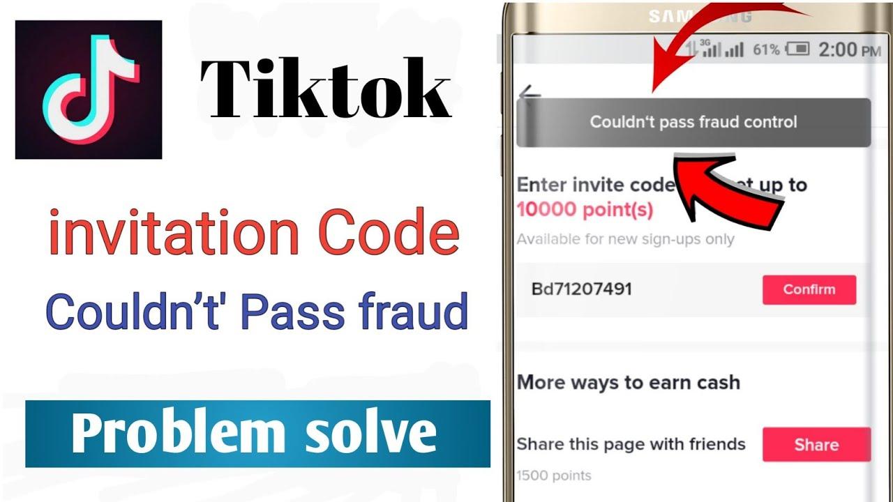 Download Tiktok Refer Problem Solve | Couldn't Pass Fraud Control Problem Solve | Tikok Invite Code Problem