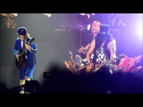 ACDC with Axl Rose rehearsal Hell Ain
