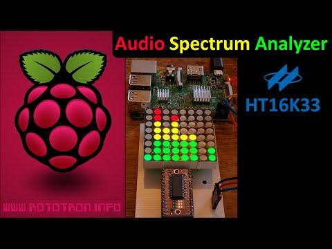 Raspberry Pi Audio Spectrum Analyzer Tutorial Using HT16K33 - YouTube