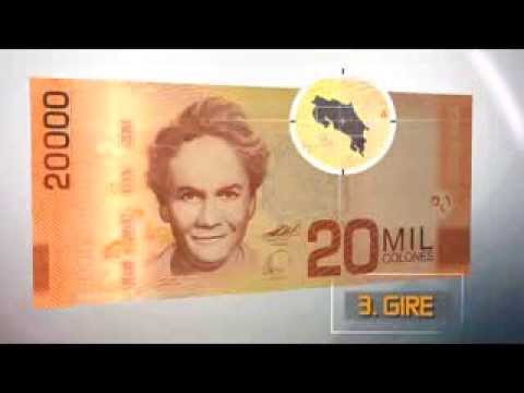 Billete de 20 mil colones de Costa Rica
