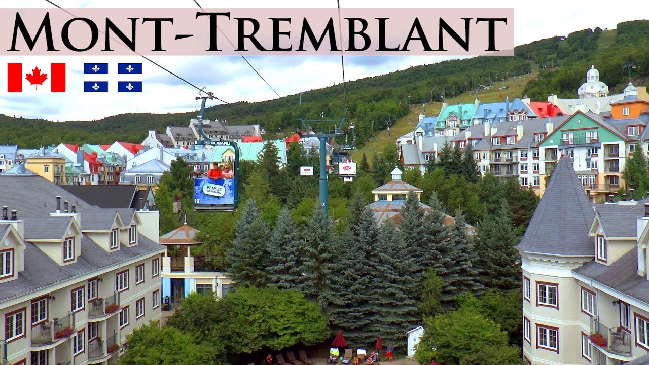 mont-tremblant │ canada - summer day trip to the popular pedestrian