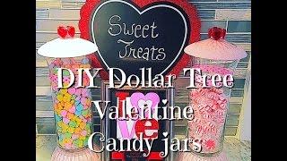 Diy Valentine Candy Jars Dollar Tree Supplies Youtube