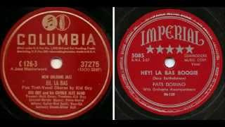 Kid Ory And His Creole Jazz Band - Eh La Bas vs Fats Domino - Hey! Las Bas Boogie