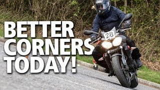 How to corner oฑ a motorcycle | Gain confidence & skill