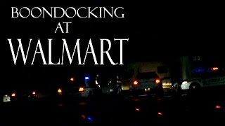 RV Living Surrounded by Cops While Boondocking at Walmart while Parking Overnight in my Campervan