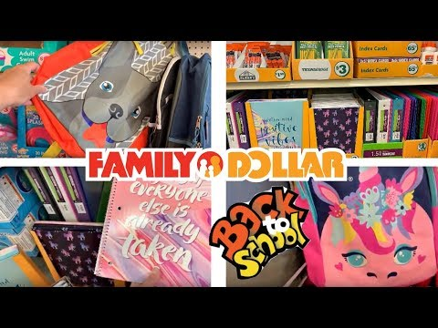 BACK TO SCHOOL SHOPPING AT FAMILY DOLLAR!!!