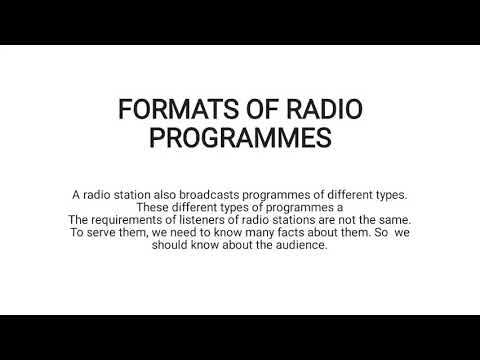 radio programmes