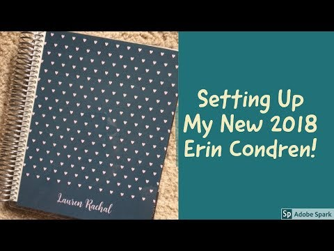 Setting Up My New 2018 Erin Condren!  Note Pages SetUp!