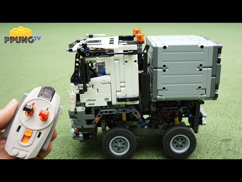 lego technic 42043 rc motorized mini mercedes benz arocs by youtube. Black Bedroom Furniture Sets. Home Design Ideas