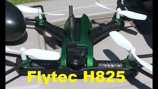 Flytec H825 5.8 ghz FPV racing drone Flight Review OTG DR1 Goggles