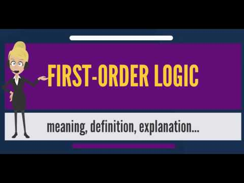 What is FIRST-ORDER LOGIC? What does FIRST-ORDER LOGIC mean? FIRST-ORDER LOGIC meaning & explanation