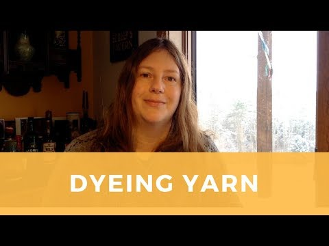 Getting started with dyeing yarn: lessons learned.